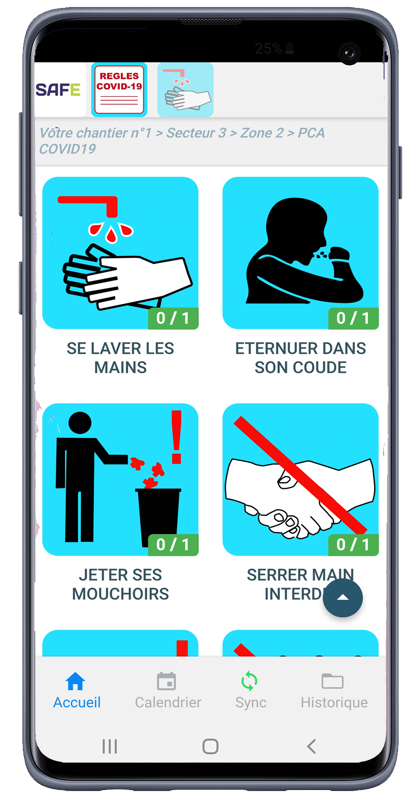 SAFENERGY Mobile App pca visual